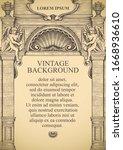 vintage background or frame for ... | Shutterstock .eps vector #1668936610