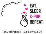 k pop fandom sign   eat  sleep  ... | Shutterstock .eps vector #1668941509