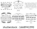 christian sayings  scripture.... | Shutterstock .eps vector #1668941590