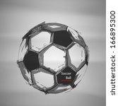 sketch soccer vector | Shutterstock .eps vector #166895300