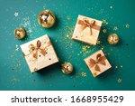 Gift Box  Shiny Gold Disco...