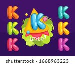 color vector letters k set.... | Shutterstock .eps vector #1668963223