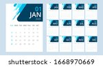 Vector Design Calendar 2020...