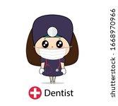 dentist  cartoon character...   Shutterstock .eps vector #1668970966