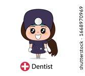dentist  cartoon character...   Shutterstock .eps vector #1668970969