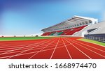 Stadium Main Stand And Running...