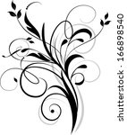 abstract floral background for... | Shutterstock .eps vector #166898540