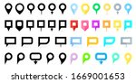collection of simple colored... | Shutterstock .eps vector #1669001653