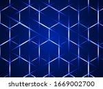 background with hexagons. hi... | Shutterstock .eps vector #1669002700