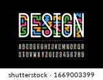 art linear style font design ... | Shutterstock .eps vector #1669003399