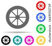 wheel multi color style icon....