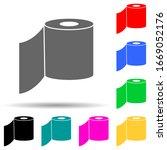 toilet paper multi color style...