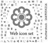 flower icon. simple web black...