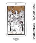 vector hand drawn tarot card...   Shutterstock .eps vector #1669058053