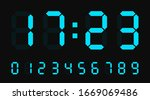 digital led numbers. electronic ... | Shutterstock .eps vector #1669069486
