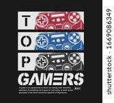 joystick gamer illustration ... | Shutterstock .eps vector #1669086349