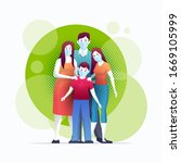 family is protecting their... | Shutterstock .eps vector #1669105999