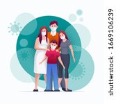 family is protecting their... | Shutterstock .eps vector #1669106239