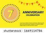 7 years anniversary celebration ... | Shutterstock .eps vector #1669114786