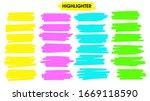 highlight brush lines. hand... | Shutterstock .eps vector #1669118590