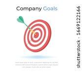 elegant company target goals... | Shutterstock .eps vector #1669122166