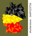 abstract germany flag over... | Shutterstock .eps vector #1669123726