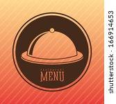 menu design over lineal ... | Shutterstock .eps vector #166914653