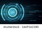 blue fast cyberspace technology ... | Shutterstock .eps vector #1669162180