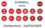 editable 14 dumbbell icons for... | Shutterstock .eps vector #1669162609