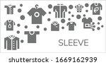 sleeve icon set. 11 filled...