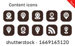 content icon set. 10 filled...
