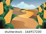Corn On A Farm. Eps 10 Vector ...