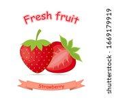 fruit flat icon logo. cute... | Shutterstock .eps vector #1669179919
