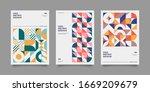 set of geometric covers.... | Shutterstock .eps vector #1669209679