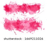 abstract red color brush... | Shutterstock . vector #1669211026