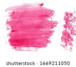 abstract red color brush... | Shutterstock . vector #1669211050
