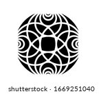 a colorless circles mozaik... | Shutterstock . vector #1669251040