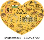 i love india   various icons | Shutterstock .eps vector #166925720