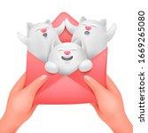 love envelope in female hands...   Shutterstock .eps vector #1669265080