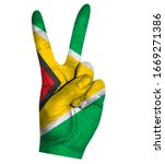 victory finger gesture with...   Shutterstock .eps vector #1669271386