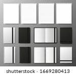 big collection realistic blank... | Shutterstock .eps vector #1669280413