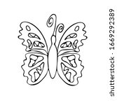 butterfly. coloring. an insect...   Shutterstock .eps vector #1669292389