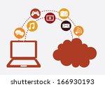 social media over white ...   Shutterstock .eps vector #166930193