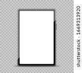 black portable tablet pad mock... | Shutterstock .eps vector #1669313920