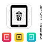 tablet fingerprint icon. vector ...