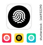 thumbprint scanner icon. vector ...