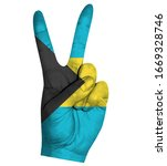 victory finger gesture with...   Shutterstock .eps vector #1669328746