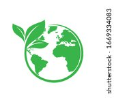save earth and ecology icon | Shutterstock .eps vector #1669334083