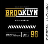 brooklyn typography design for... | Shutterstock .eps vector #1669338820