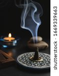 Aromatic Incense Burning On A...